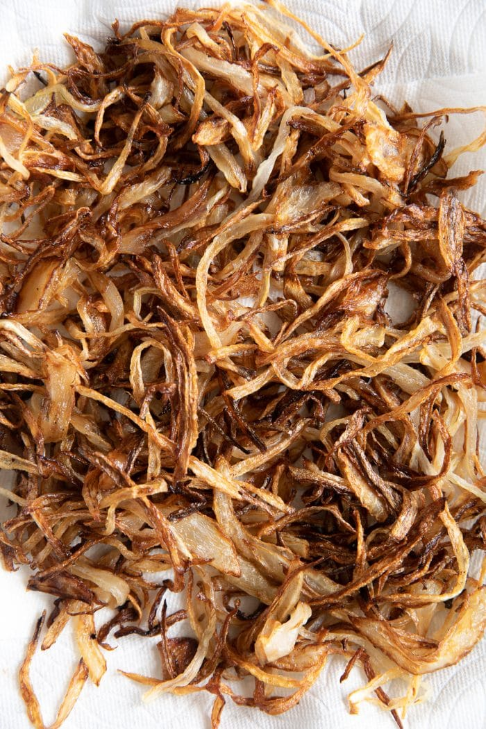 Crispy friend onions.