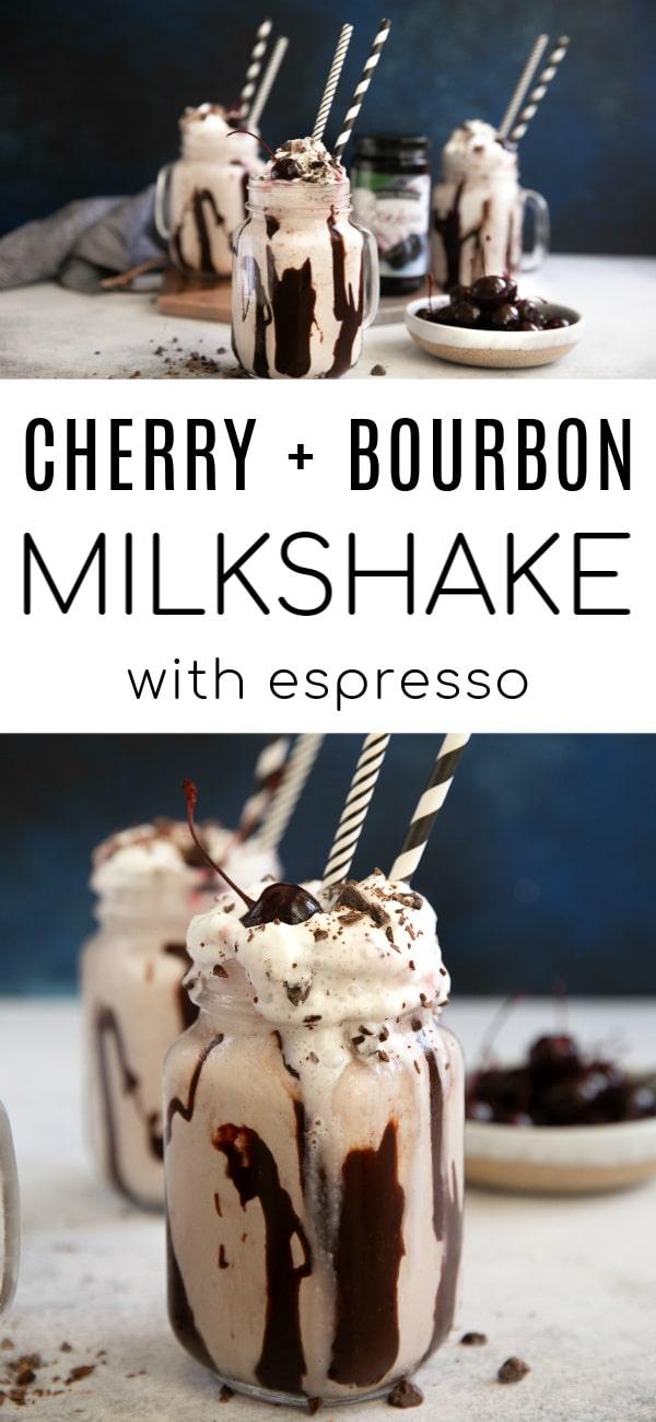 cherry bourbon milkshake pinterest pin