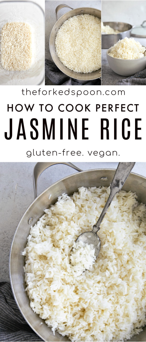 how to cook jasmine rice pinterest pin image