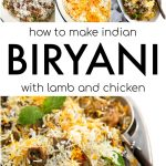 how to make biryani recipe pinterest collage image