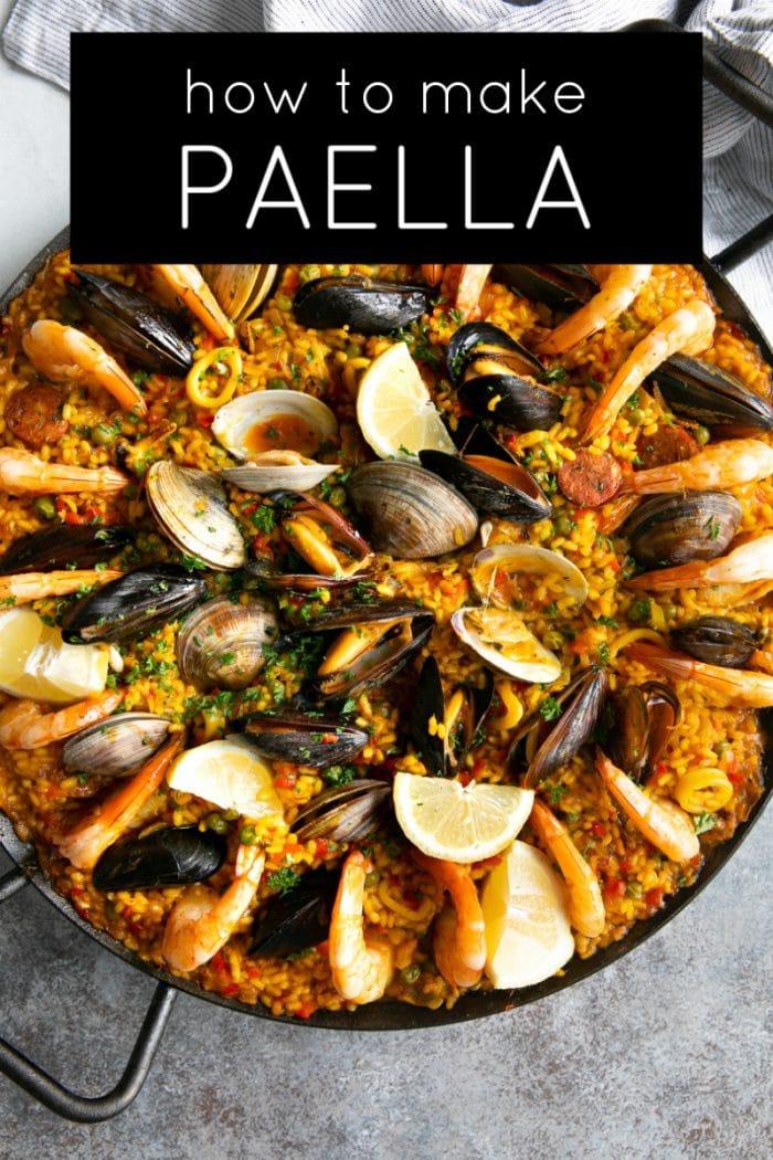 spanish paella recipe pinterest pin
