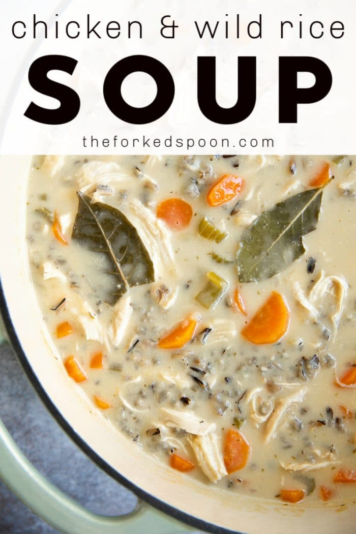 Creamy Wild Rice Soup Recipe pinterest image