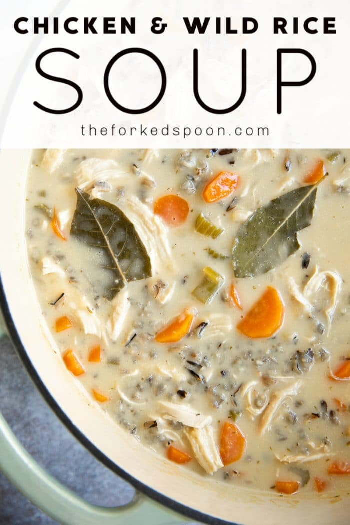 Creamy Wild Rice Soup Recipe pinterest image