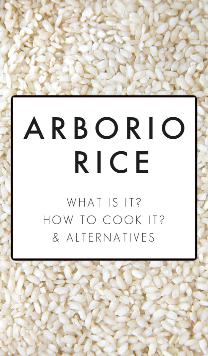 what is arborio rice pinterest image