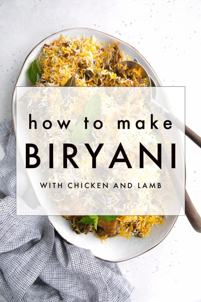 how to make biryani recipe pinterest collage image