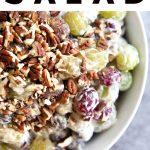 creamy grape salad pinterest image pin