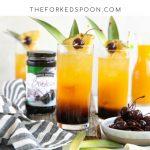 Cherry turmeric painkiller cocktail recipe pinterest pin image