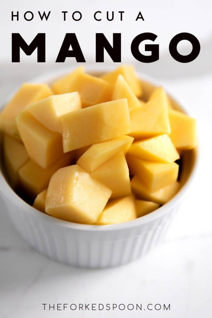 how to cut a mango pinterest pin image