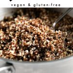 how to cook quinoa pinterest pin image