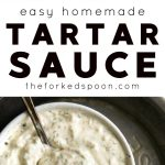 homemade tartar sauce recipe pinterest pin