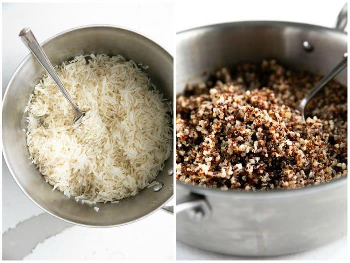 rice vs quinoa cooked