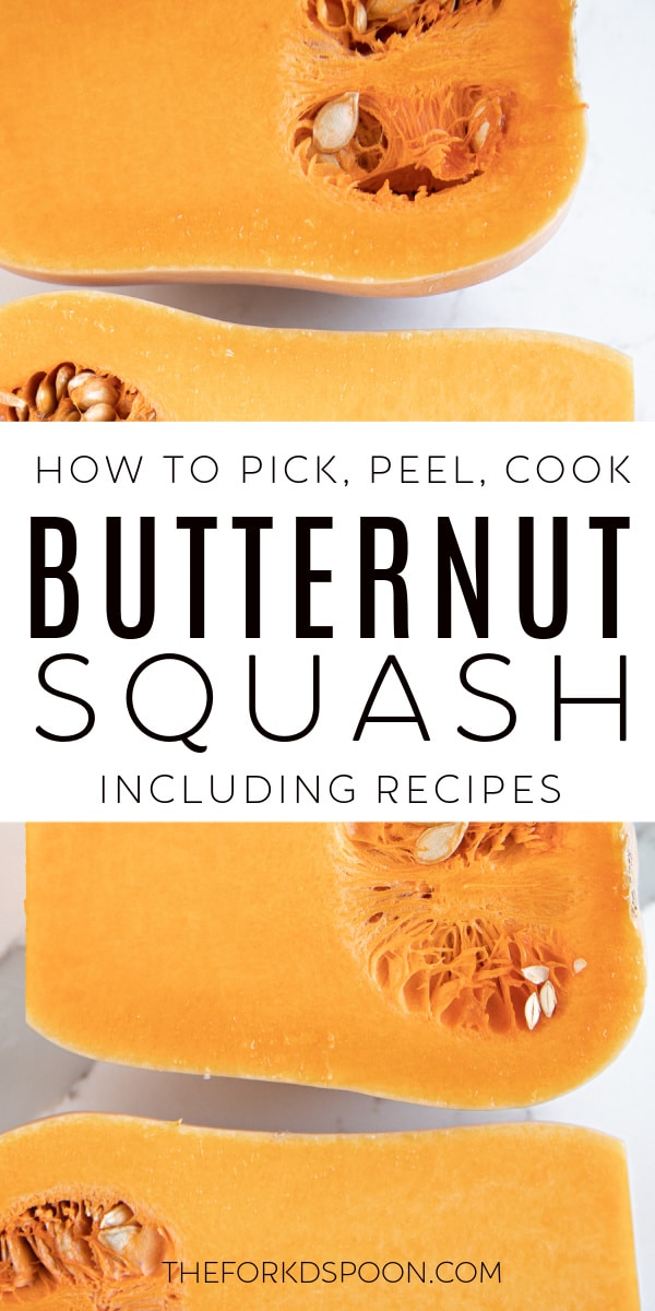 All About Butternut Squash: How to Pick, Peel, and Prepare for Cooking Pinterest Image Collage