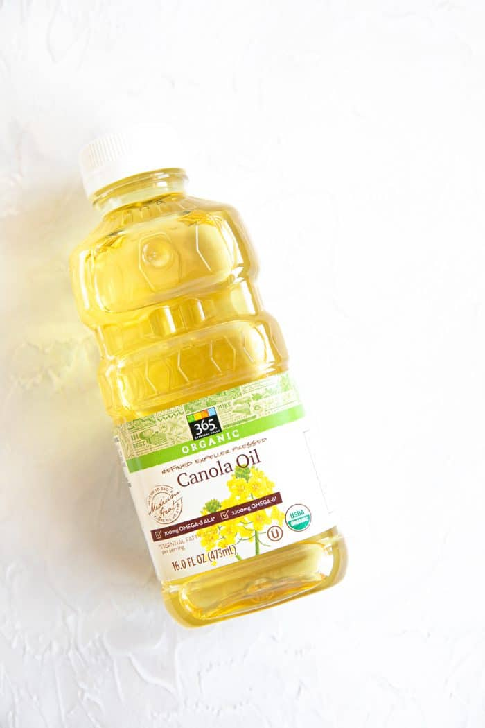 Bottle of canola oil.