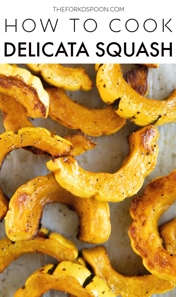 How to Cook Delicata Squash Pinterest Pin Image