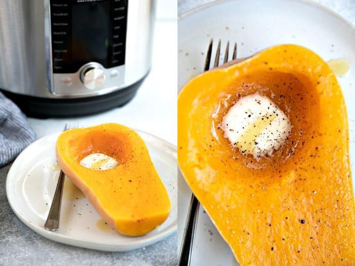 Instant Pot Butternut Squash Collage