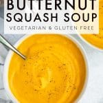 Instant Pot Butternut Squash Soup Recipe Pinterest Pin Image