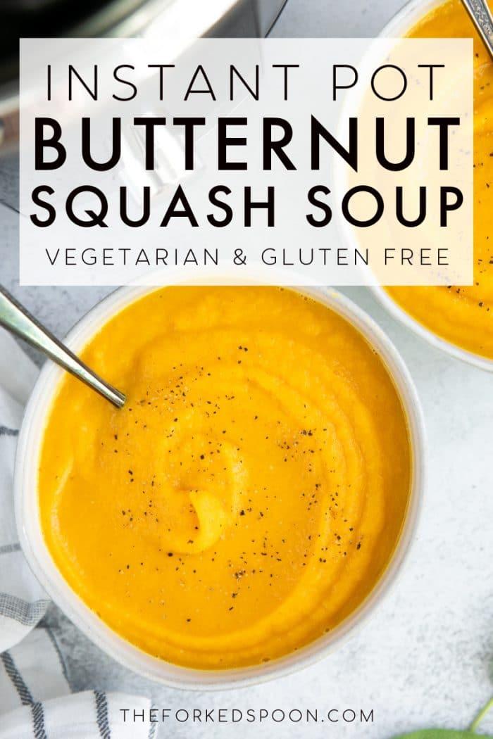 Instant Pot Butternut Squash Soup Recipe Pinterest Pin Image