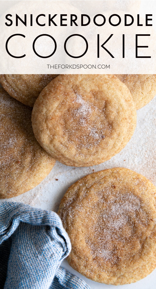 Snickerdoodle Cookie Recipe PINTEREST PIN IMAGE