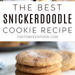 Snickerdoodle Cookie Recipe PINTEREST PIN IMAGE