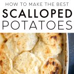 Classic Scalloped Potatoes Recipe Pinterest Pin Image Collage