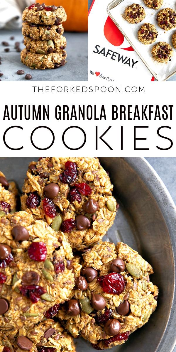 Easy AutumnGranola Breakfast Cookies Pinterest Pin Long