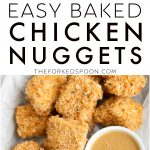 Easy Baked Chicken Nuggets Recipe Pinterest Pin Image