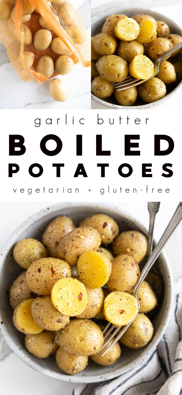 Garlic Butter Boiled Potatoes Recipe (How to Boil Potatoes)