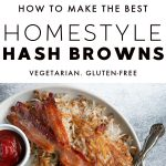 Hash Browns Recipe (How to Make Crispy Hash Browns) Pinterest Pin Image