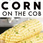 Instant Pot Corn on the Cob Pinterest Pin Image