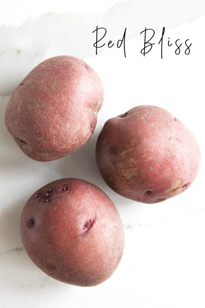 Three Red Bliss Potatoes