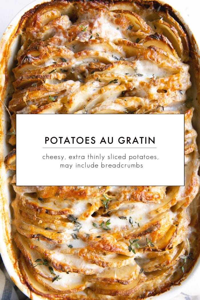 Scalloped Potatoes vs. Au Gratin Potatoes_ What's the Difference?Image with text overlay