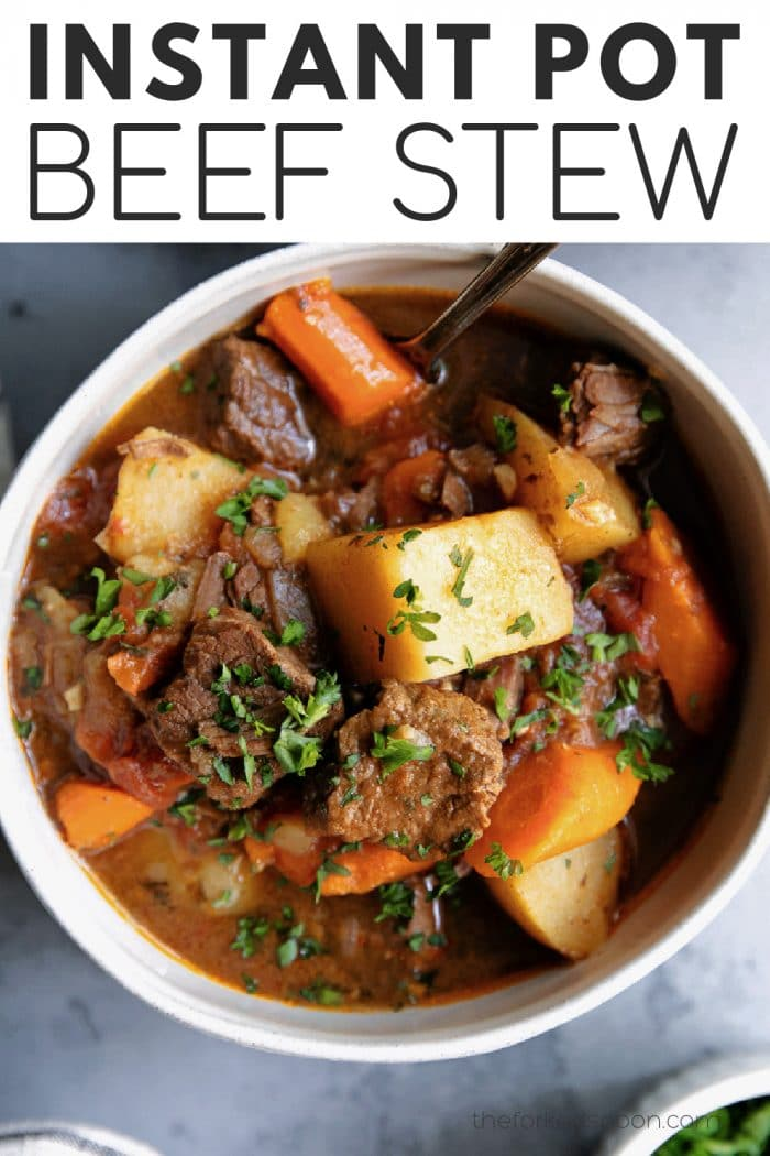 instant pot beef stew pinterest pin image collage