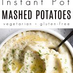 Instant Pot mashed potatoes recipe Pinterest Pin Collage