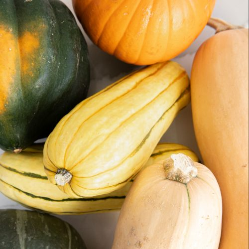 Image of different types of winter squash.