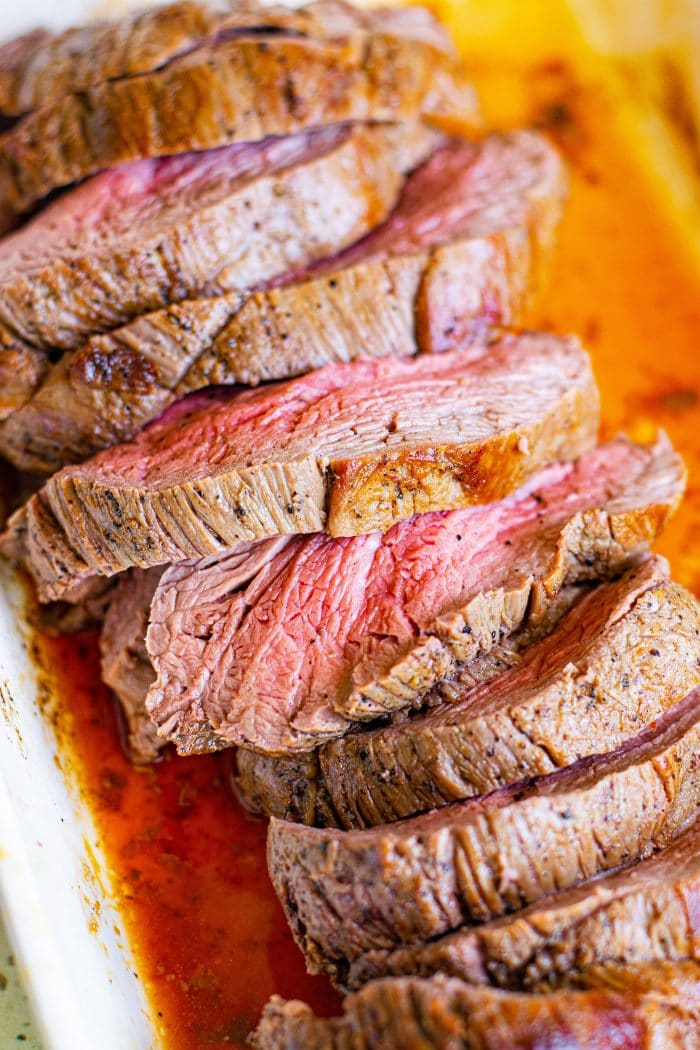 Sliced Roast Beef Tenderloin