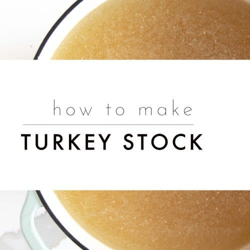Homemade Turkey Stock text overlay