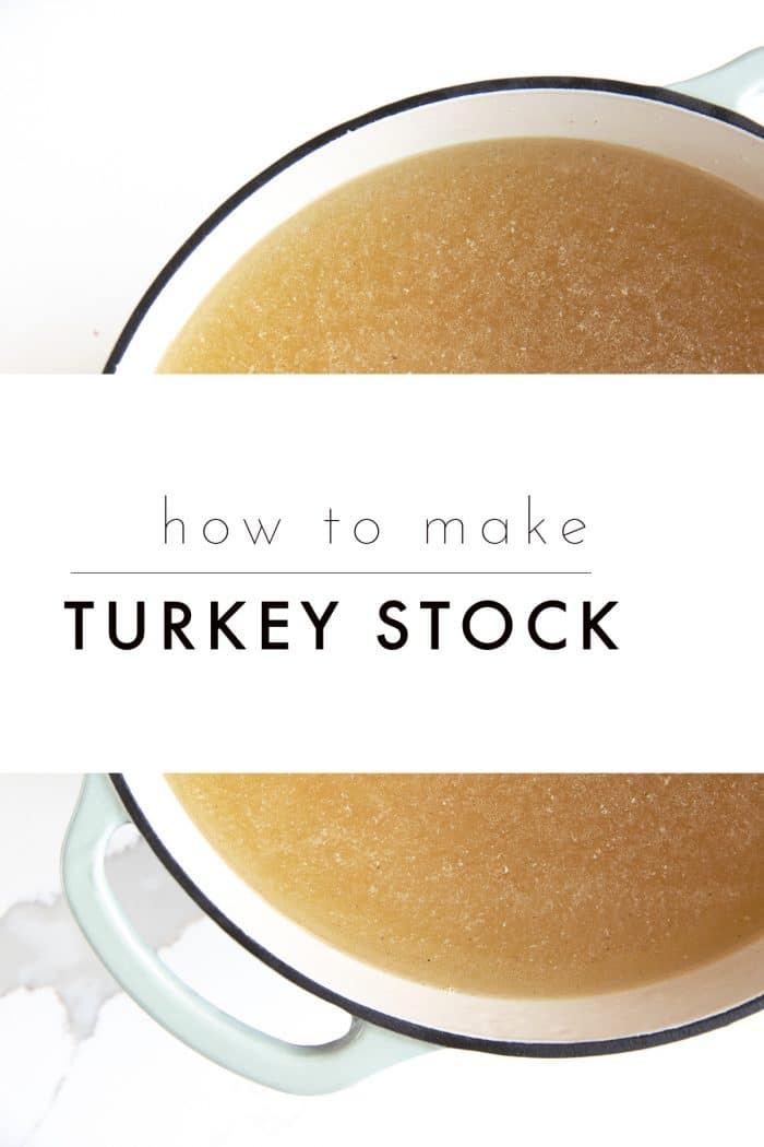 Homemade Turkey Stock text overlay
