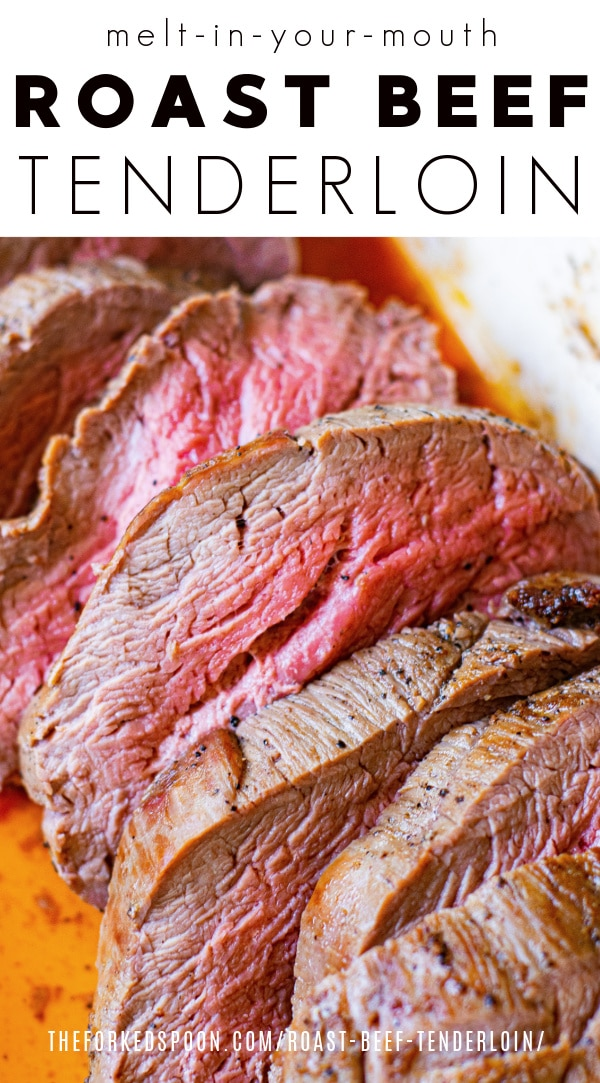 Roast Beef Tenderloin Pinterest PIN Collage