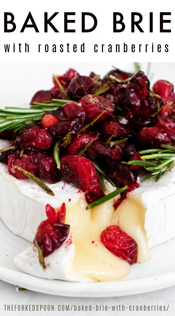 Baked Brie with roasted cranberries Pinterest PIN Collage