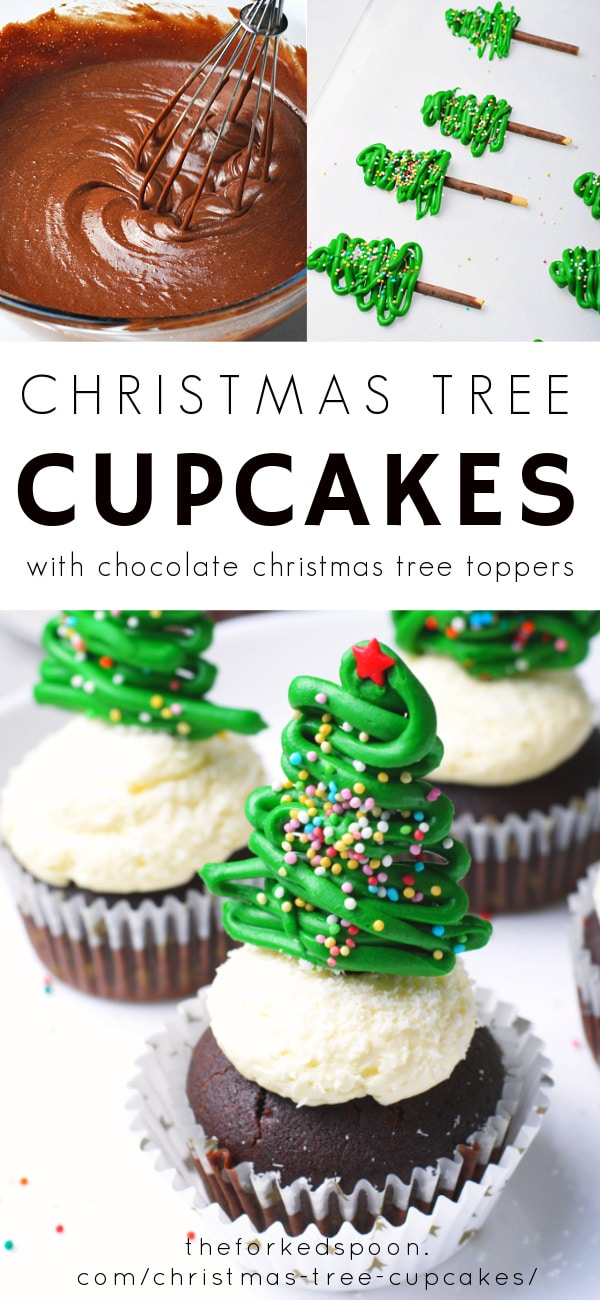 christmas tree cupcakes Pinterest pin collage image