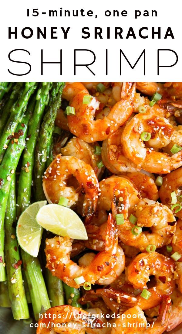 honey sriracha shrimp Pinterest PIN Collage