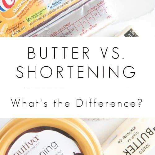 BUTTER VS. SHORTENING text overlay