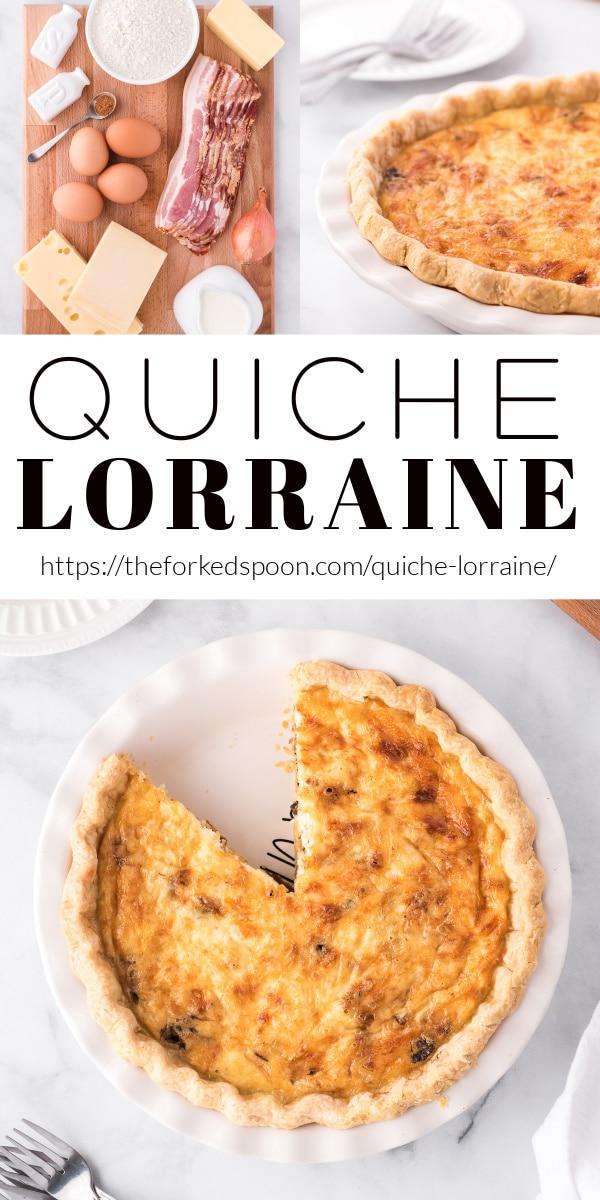 Quiche Lorraine Recipe Pinterest Pin Collage Image