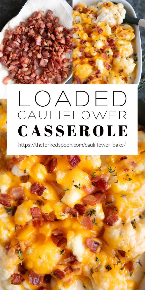 cauliflower bake Recipe Pinterest Pin Collage Image