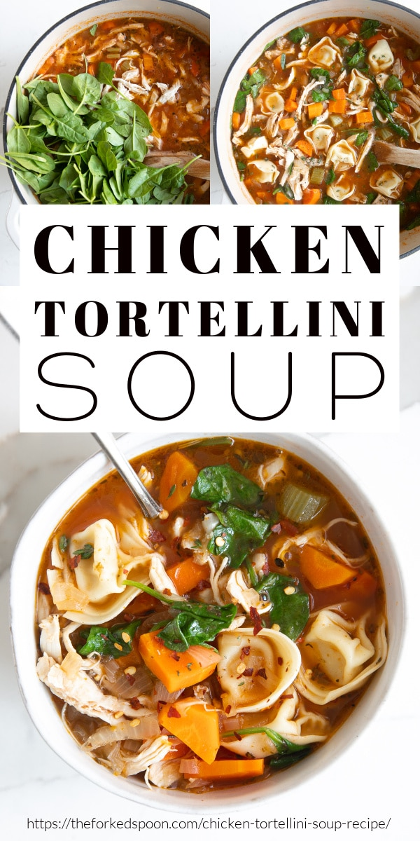 chicken tortellini soup pinterest pin collage image