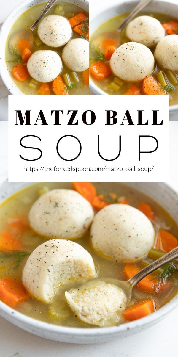 matzo ball soup Pinterest PIN Collage