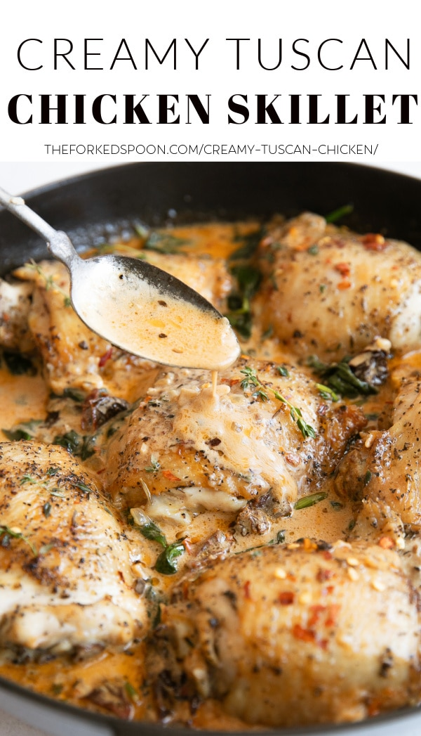 Creamy Tuscan Chicken Pinterest PIN Collage