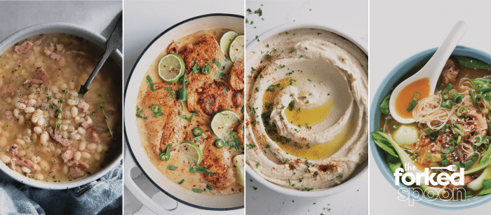 4 different images of Bowls of recipes found on The Forked Spoon