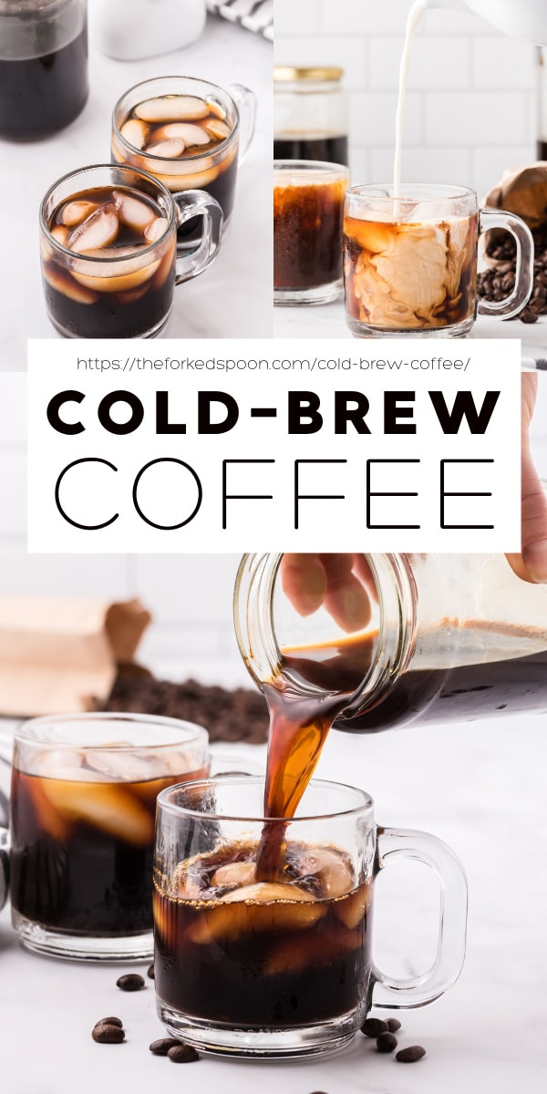 cold brew coffee pinterest pin collage image