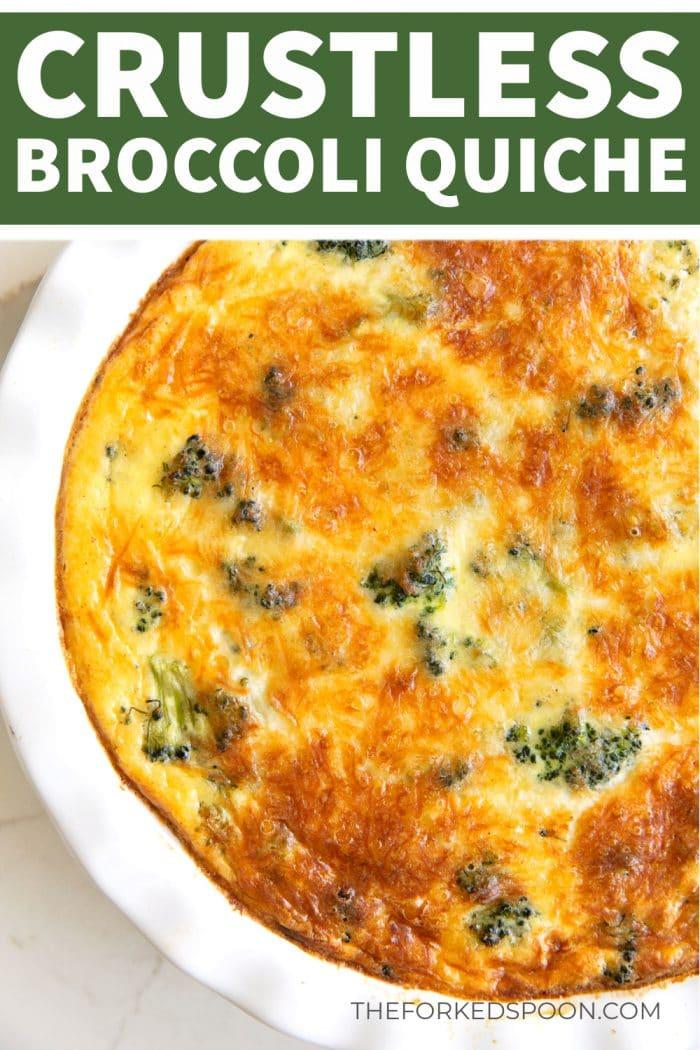 Easy Crustless Quiche Recipe Pinterest Pin Image Collage